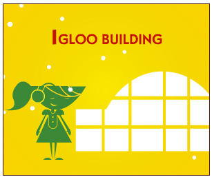Igloo building banner ad for Lipton
