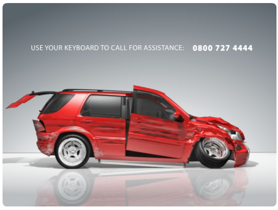 Ad banner for car company Itau