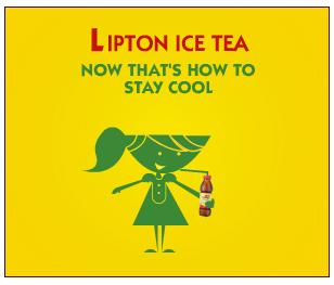 Nice banner for Lipton company
