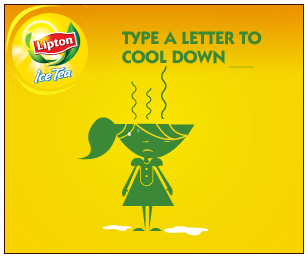 Interesting banner ads for Lipton