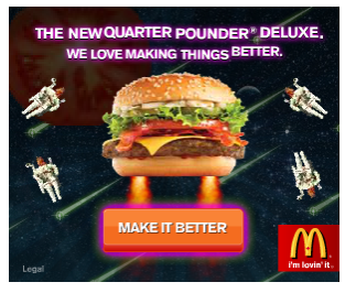 Appetizing banner for McDonalds
