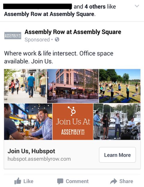 Assembly Row banner for Facebook
