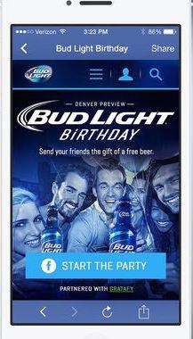 Ad Banner for Budweiser