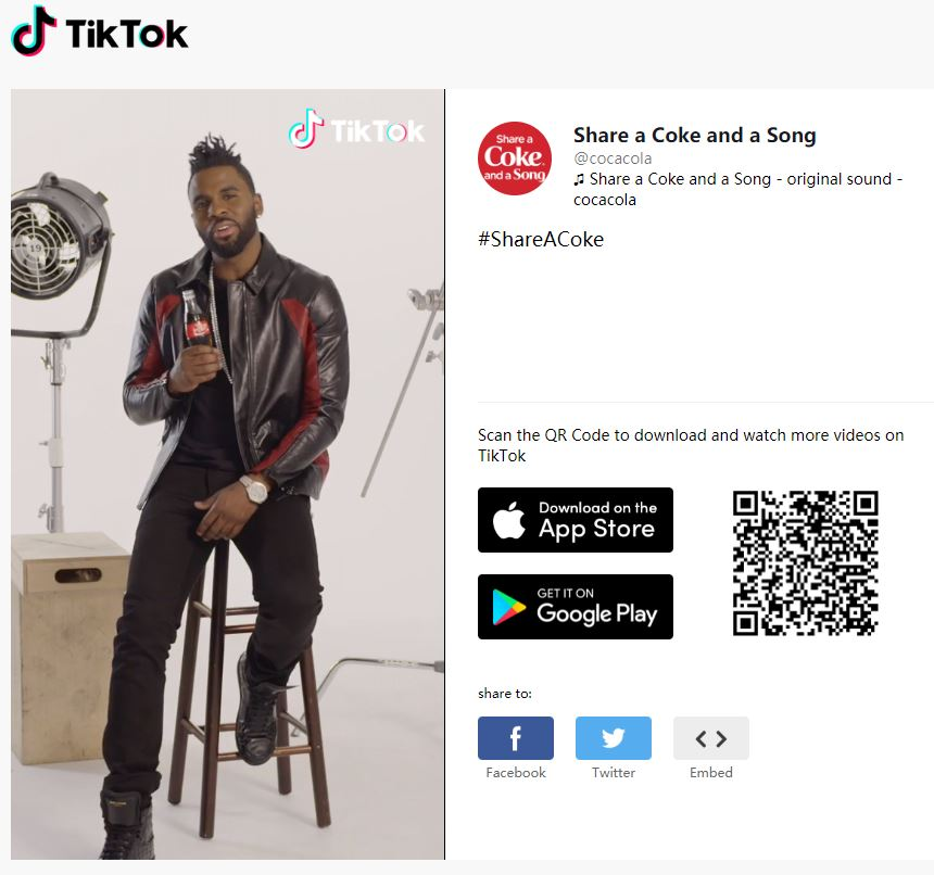 Coca-Cola have launched its challenge on TikTok